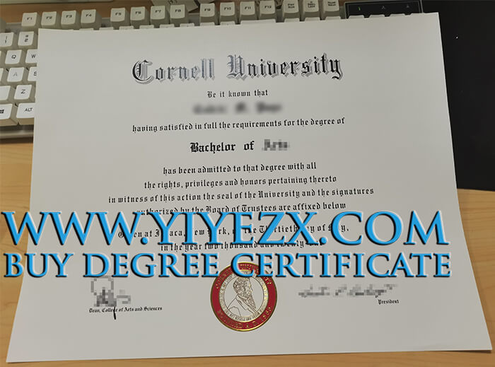 Cornell University diploma, 康奈尔大学学位证书