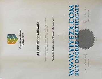 Southern Cross University Fake diploma sample in 2021, 出售新版南十字星大学学位