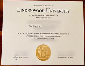 林登伍德大学毕业证样本, Buy fake Lindenwood University diploma,