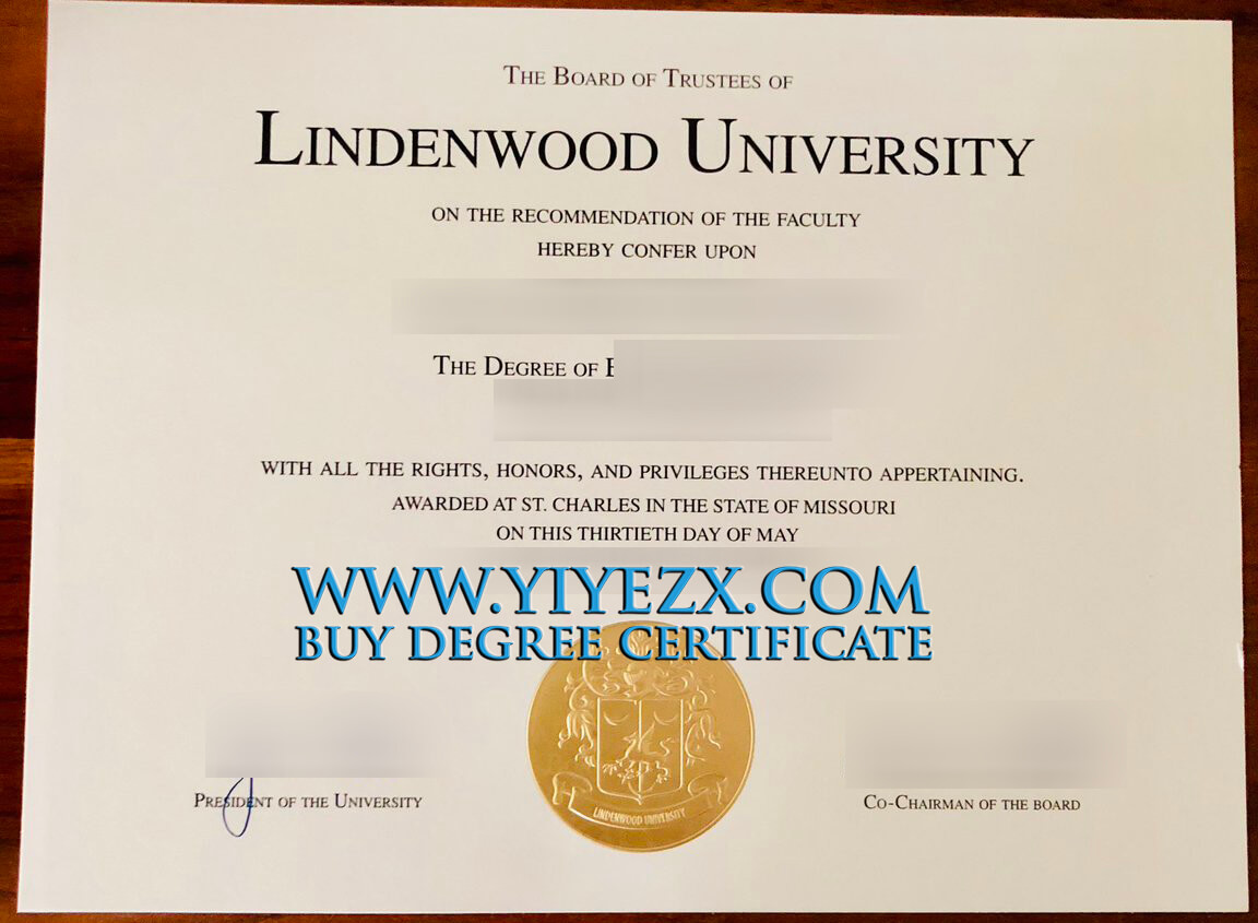 Lindenwood University diploma