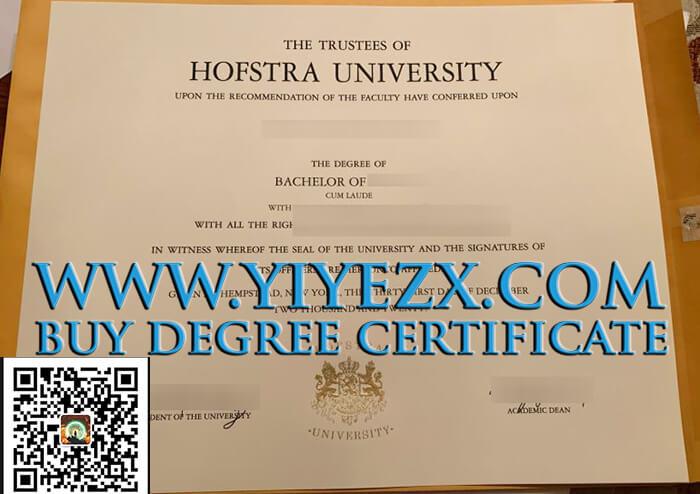 Hofstra University diploma, 霍夫斯特拉大学学位证书