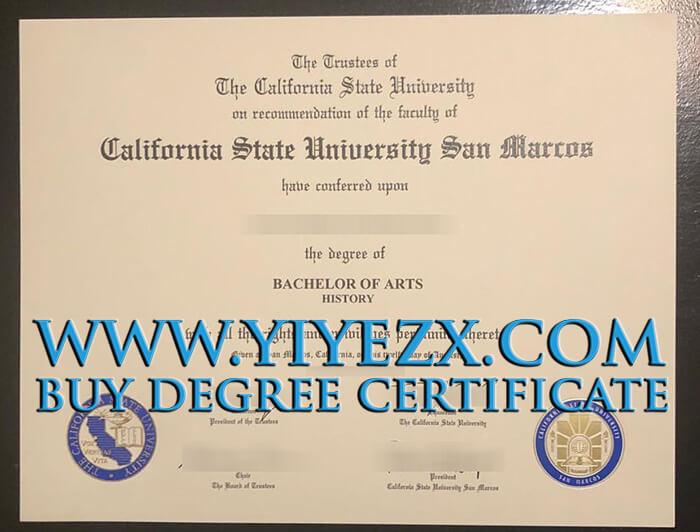 CSUSM  fake diploma sample, 代办加州州立大学圣马科斯分校学位证书