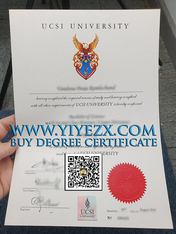 UCSI University degree