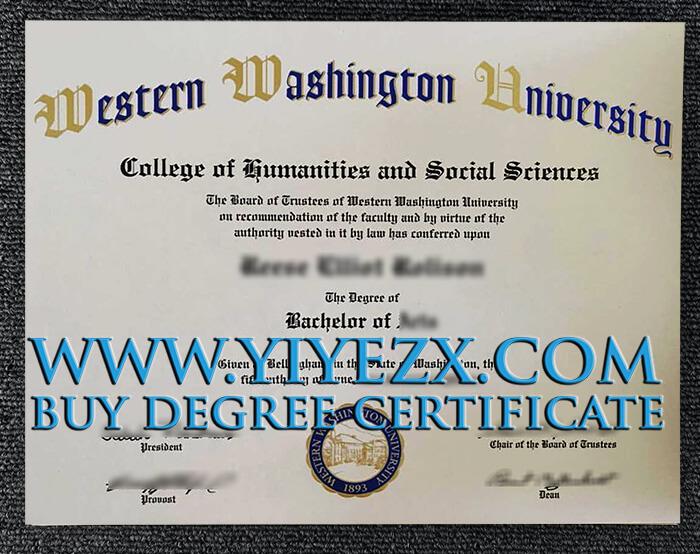 西华盛顿大学文凭,Buy WWU diploma