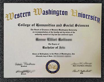 快速购买西华盛顿大学文凭, Buy fake Western Washington University diploma