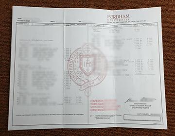 Fordham University fake transcript sample, 福特汉姆大学文凭证书出售