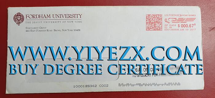 Fordham University envelope