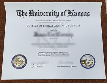 堪萨斯大学文凭, Buy fake University of Kansas diploma