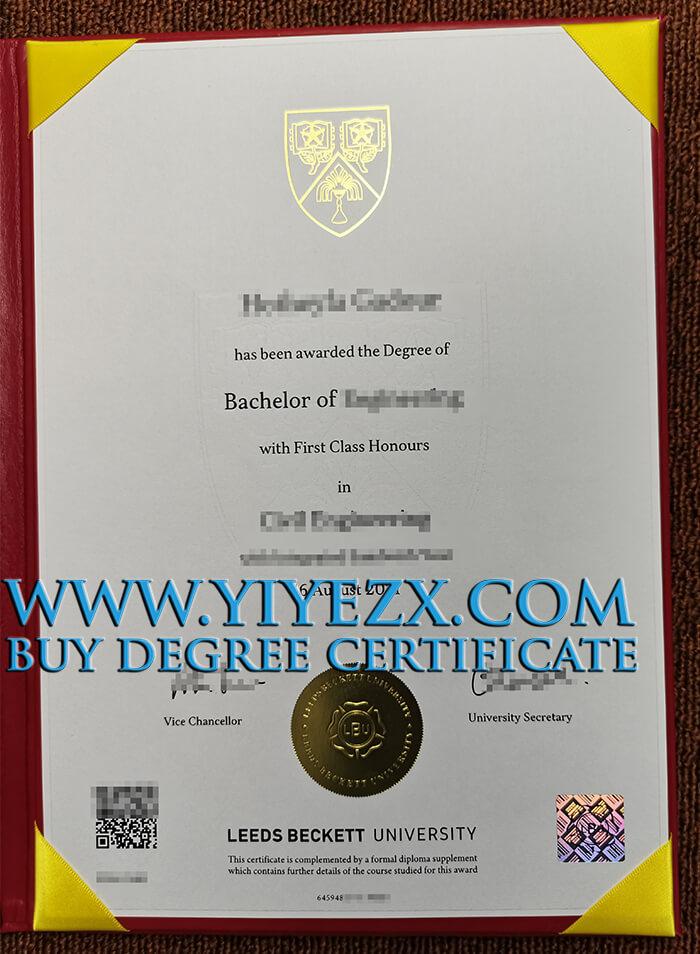 Leeds Beckett University Fake Degree
