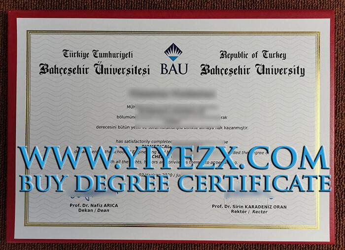 Bahçeşehir University diploma , Buy diploma online
