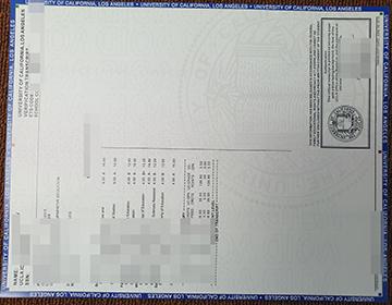 Would you like to havev a fake UCLA transcript? 加州大学洛杉矶分校成绩单