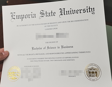 What's the fees to make a fake Emporia State University diploma制作恩波利亚州立大学文凭的费用是多少