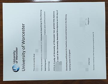Steps to order a fake University of Worcester diploma online在线订购伪造的伍斯特大学文凭