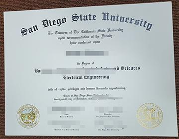Where can I Buy a fake SDSU Diploma? 圣地亚哥州立大学文凭出售?
