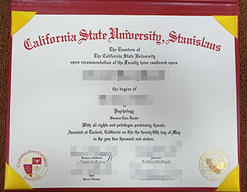 fake California State University, Stanislaus Diploma, 假的加州州立大学斯坦尼斯劳斯文凭