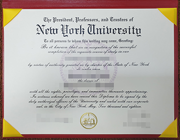 Fake New York University diploma certificate/transcript with real watermark
