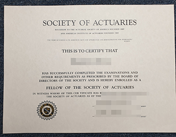 How to Buy Fake Society of Actuaries certificate, 购买假的精算师协会证书