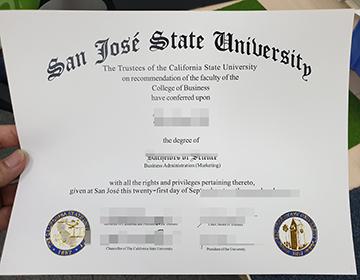 San Jose State University Diploma Cost, 圣何塞州立大学文凭