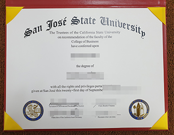 Where to buy a fake San Jose State University degree? 圣何塞州立大学学位办理