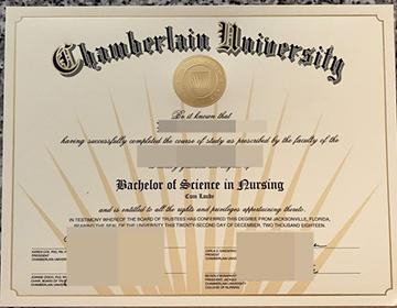 Can I purchase a Chamberlain University certificate in the USA? 购买张伯伦大学证书