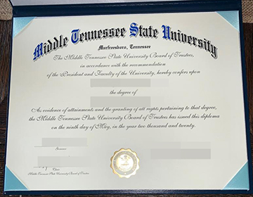 Fake Middle Tennessee State University Diploma, 中田纳西州立大学文凭出售,