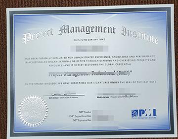 Order Fake PMP Certificate, 项目管理专业人员证书