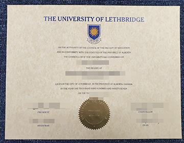 Where Can I buy a fake University of Lethbridge degree certificate, 莱斯布里奇大学证书出售