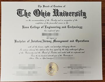 Where to Buy a fake Ohio University Diploma, 俄亥俄大学文凭出售,