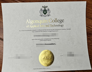 Where to purchase a fake Algonquin College diploma? 阿冈昆学院学位订购