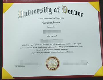 Buy fake University of Denver diploma online, 购买丹佛大学文凭