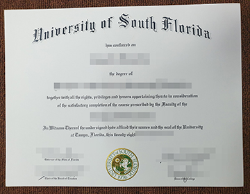 How to buy fake University of South Florida certificate online? 购买假的南佛罗里达大学证书?