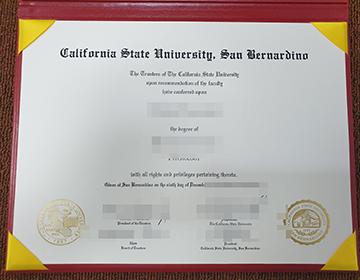 CSUSB Degree certificate, 获得加州州立大学圣贝纳迪诺分校的证书