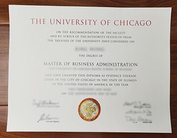 Buy Fake University Of Chicago MBA Diploma, 芝加哥大学文凭出售