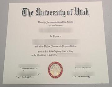 how to buy a fake University of Utah diploma? 犹他大学文凭原版定制