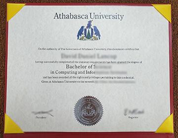 Purchase a fake Athabasca University (AU) degree online, 阿萨巴斯卡大学文凭定制