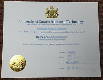 Buy fake UOIT degree online, 在线购买安大略理工大学学位证书