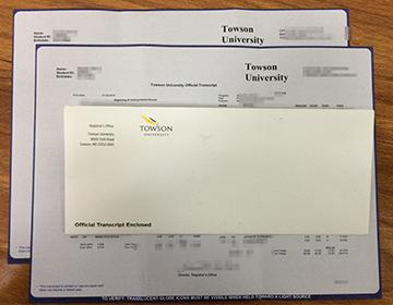 Buy Towson University fake transcript, 陶森大学成绩单定制