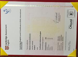 Fake Cambridge C1 Advanced Certificate order