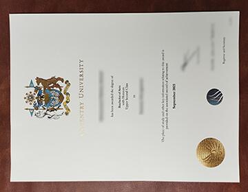 Buy fake Coventry University diploma in 2021, 考文垂大学2021年新版样本