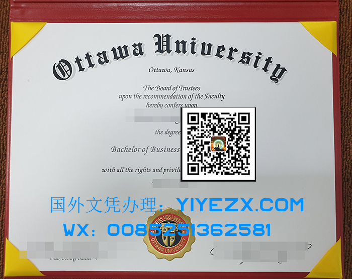 Ottawa University certificate