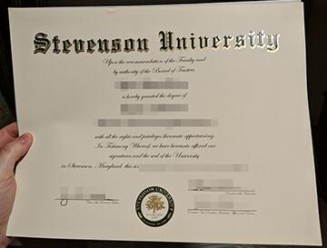 Buy fake Stevenson University diploma, 快速办理史蒂文森大学文凭,办理美国文凭