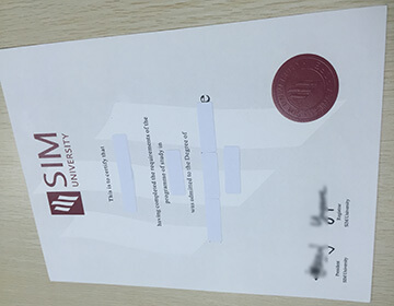 Buy a UniSIM diploma in Singapore, 新加坡管理学院文凭成绩单定制
