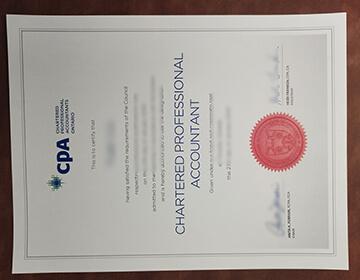 Buy Ontario CPA Fake Certificate online