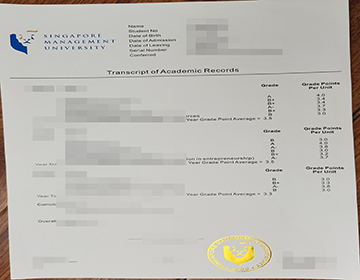 How much to purchase a fake Singapore Management University transcript?