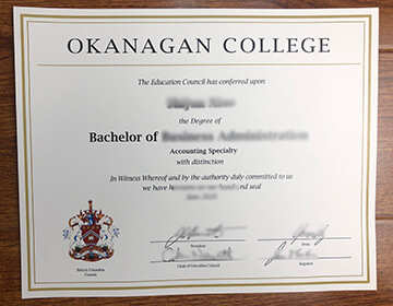 Order a fake Okanagan College degree, 快速订购奥肯那根学院文凭证书