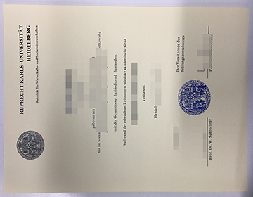 How much to buy a fake Heidelberg University degree, 出售海德堡大学学位