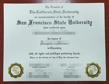 Buy a fake San Francisco State University diploma, 购买旧金山州立大学文凭