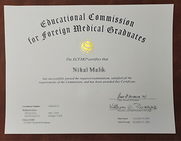 Buy fake ECFMG certificate,Fake Educational Commission for Foreign  Medical Graduates certificate