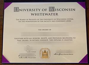 University of Wisconsin–Whitewater Fake Diploma, 定制威斯康星大学白水分校毕业证成绩单