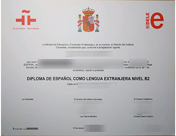 Buy A Fake DELE B2 Level Certificate From Madrid